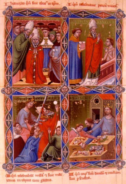 Martyrdom of St. Stanislaus of Cracow from Anjou legendarium of the Kings of Hungary (XIV century)