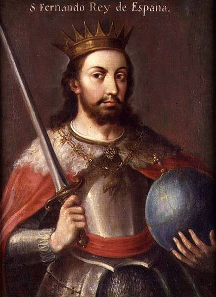 Saint Ferdinand III of Castile. Painted by Spanish School.