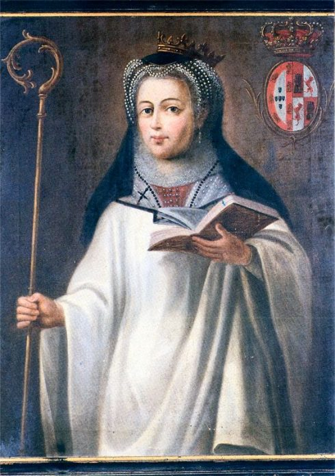 St. Mafalda of Portugal, in an anonymous 18th century painting