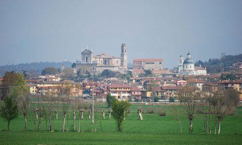 Castiglione delle Stiviere, town in the province of Mantua, in Lombardy, Italy and birthplace of St. Aloysius Gonzaga Luigi Gonzaga. Phot by Massimo Telò