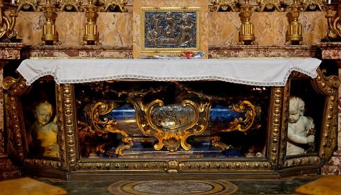 Tomb of Saint Aloyisius Gonzaga in the Church of Saint Ignatius, Rome