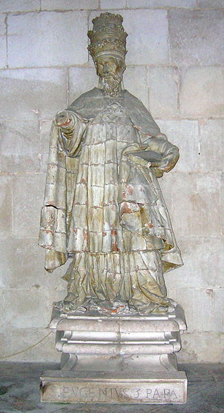 Statue of Pope Eugene III in Portugal