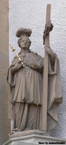 Statue in Erfurt, Germany