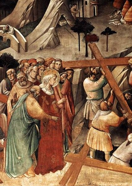 Finding the True Cross Painted by Agnolo Gaddi