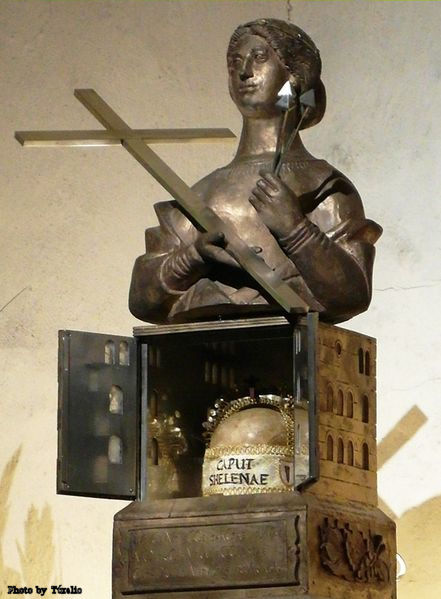 The Reliquary of Saint Helena, which contains her skull, in the crypt of Trier cathedral.