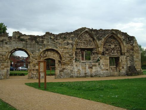 Remains of St Oswald's Priory, Gloucester, England, where the body of St. Oswald was buried.