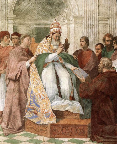 Pope Gregory IX Approving the Decretals 1511, Painted by Raphael Sanzio