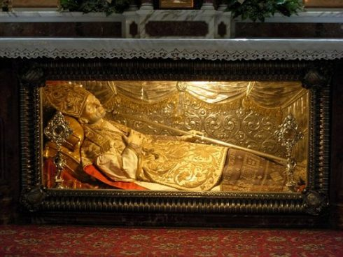 Relics of Saint Alphonsus Liguori, at Pagani basilica