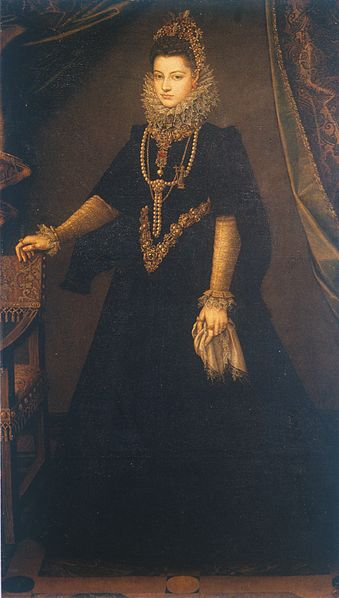 Infanta Isabella Clara Eugenia of Spain painted by Sofonisba Anguissola.