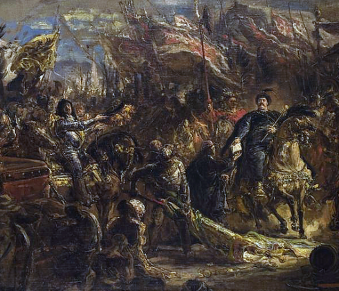 King John III Sobieski Sobieski sending Message of Victory to the Pope, after the Battle of Vienna painted by Jan Matejko