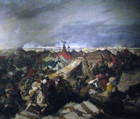 Right side of Battle of Vienna (1683) by Józef Brandt