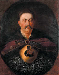 King Jan III Sobieski with a gorget of the Black Madonna of Częstochowa.