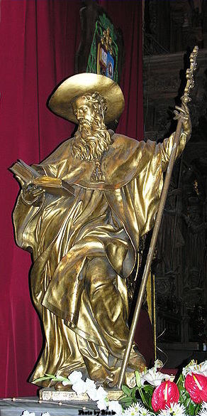 Statue of St. Jerome in St. John Cathedral in Wrocław