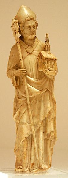 Statue of St. Wolfgang in the Bonnefanten Museum in Maastricht.