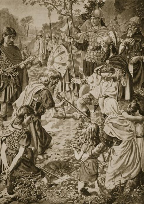 The Submission of Guthrum to King Alfred by Herbert Alfred Bone