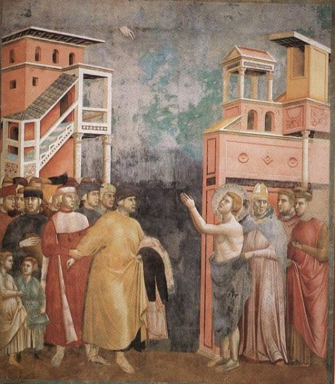 St Francis, Renunciation of Wordly Goods, by Giotto di Bondone