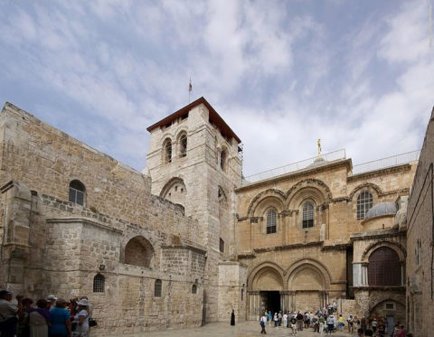 Main Entrance to the Church of the Holy Sepulchre