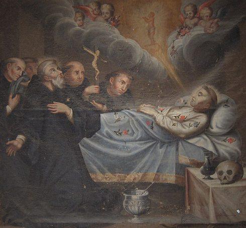 Death of St. Francis. - Évora, Portugal, Igreja de São Francisco.