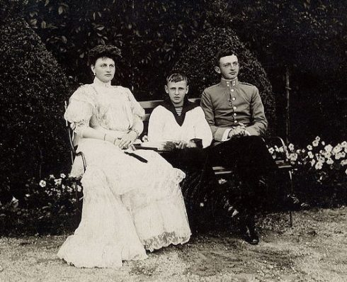 Archduchess Maria Josefa of Austria (1867-1944) and sons Karl and Maximilian, 1910.