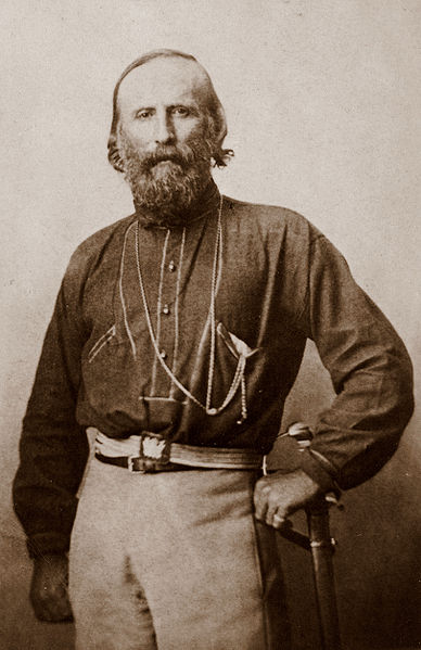 Photograph of Giuseppe Garibaldi, taken in Naples in 1861.