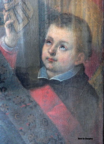 Painting of young Saint Charles Borromeo by Wolfgang Sauber