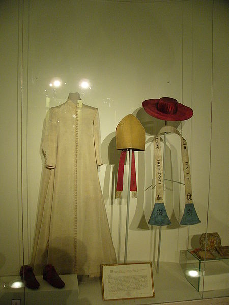 "Clothes of Charles Borromeo in ""Museo Borromeo"" museum in Karlskirche Wien (Austria)."