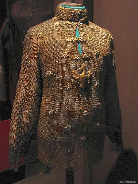 The chainmail of King John II Casimir Vasa, located at the Polish Army Museum in Warsaw.