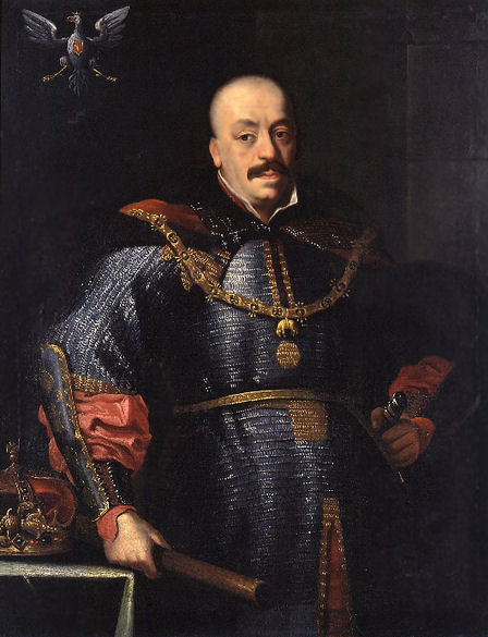 Portrait of King John II Casimir in a chainmail.