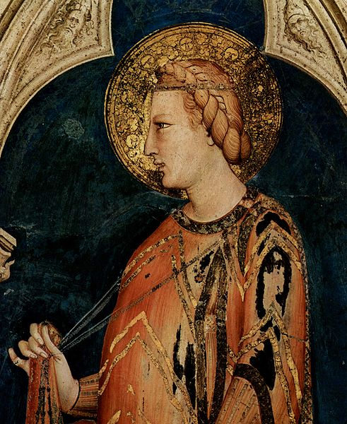 Fresco of St. Elizabeth of Hungary by Simone Martini
