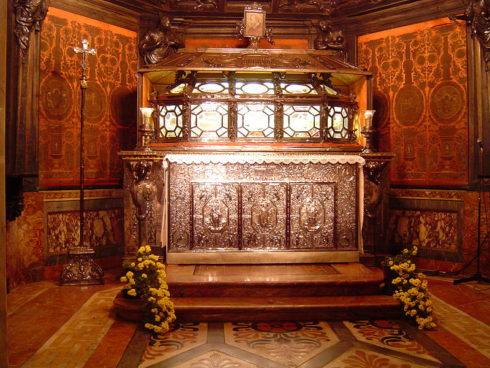 The Crypt of Saint Charles Borromeo, in the Duomo di Milano, Italy.