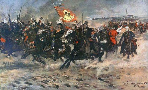 Painting by Józef Chełmońsk