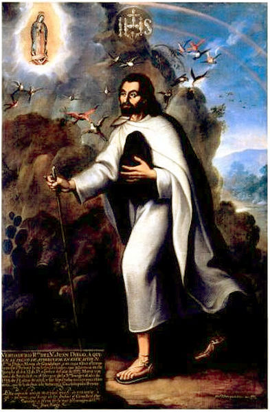 Painting of St. Juan Diego by Miguel Cabrera