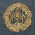 A badge, found in the River Dove in England, collected by a pilgrim to show they had gone to the tomb of St. Thomas Becket. On display in the British Museum.