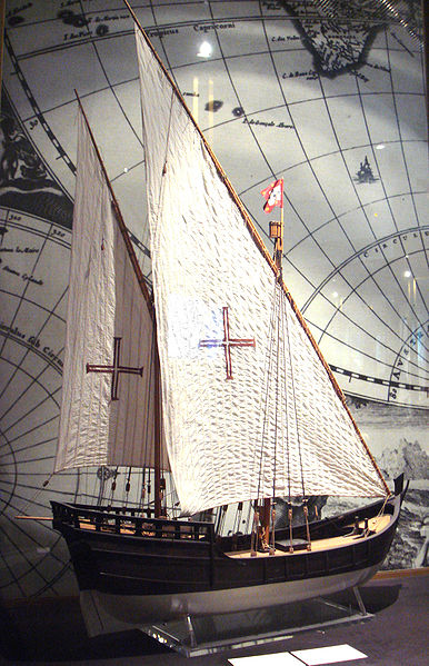 Portuguese Caravel with Crusader Cross. Photo by PHGCOM