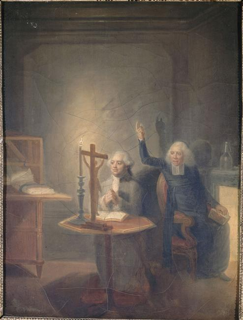Louis XVI and his last confessor, Abbé Edgeworth