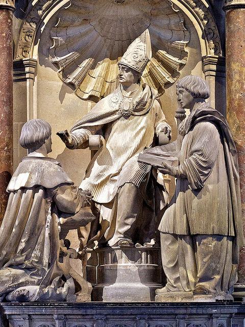 St. Remigius annointing Clovis. Basilique Saint-Remi de Reims