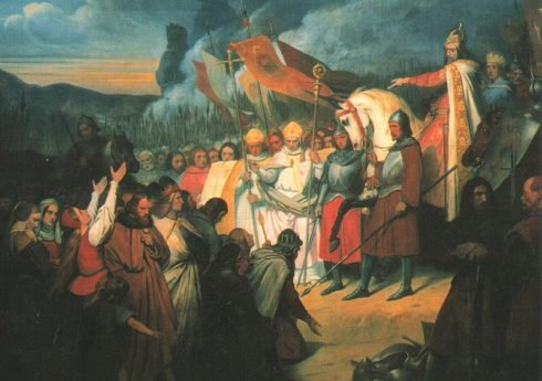 Painting by Ary Scheffer of Charlemagne after the battle in Paderborn.