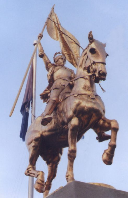 Statue of St. Joan of Arc in New Orleans, Louisiana