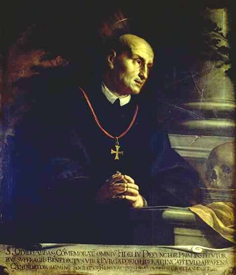 St Odilio, Painting by Francesco Andreani