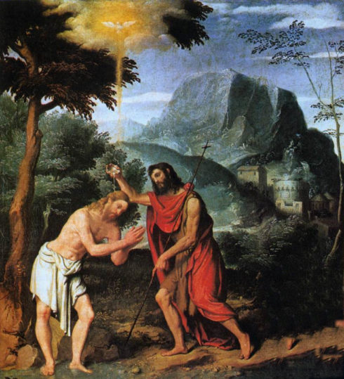Baptism of Our Lord, painting by Giovanni Battista Moroni