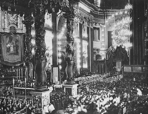 Photo of the Canonization of St. Joan of Arc on May 16, 1920.