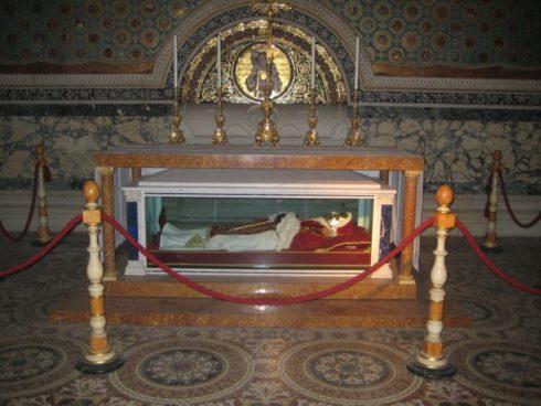 The incorrupt body of Pope Pius IX