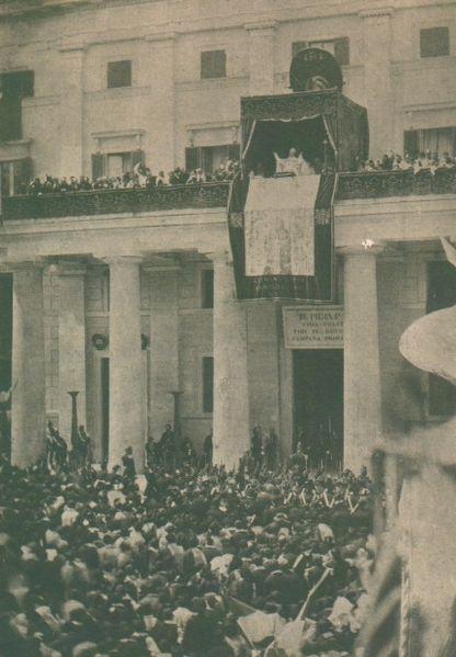 Pope Pius IX at Frosinone, Italy in 1863.
