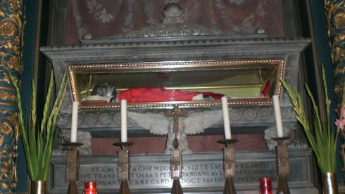 The body of St. Peter Damian at the Cathedral of Faenza.