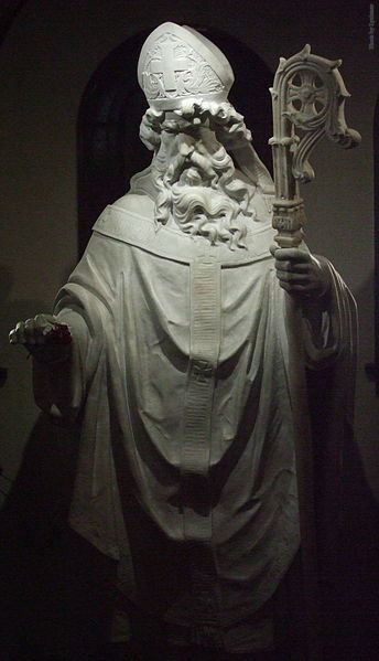 Statue of St. Patrick in St Patrick Cathedral, El Paso, Texas.