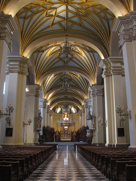The interior of the Cathedral in Lima, Peru