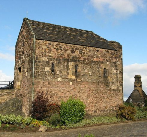 St. Margaret's Chapel, 12th Century. The oldest building in the castle built by King St. David I and dedicated to his Mother, St. Margaret, who died here in 1093.