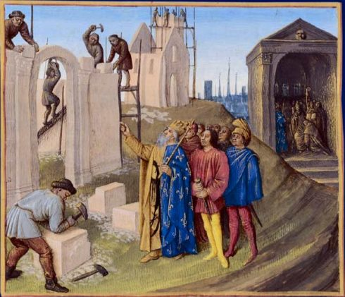 Construction d'Aix-la-Chapelle by Jean Fouquet.