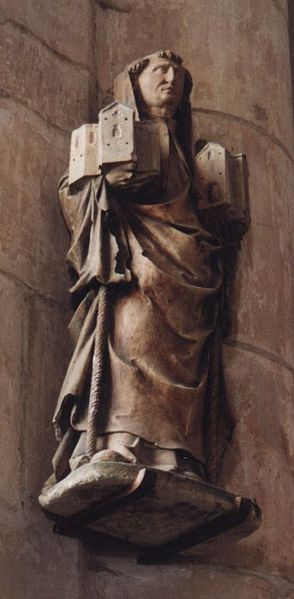 Statue of St Robert of Molesme in Germany