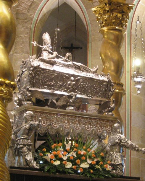 Silver coffin of St. Adalbert in Gniezno